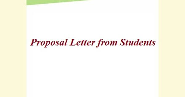 Sample Proposal Letter Format from Students