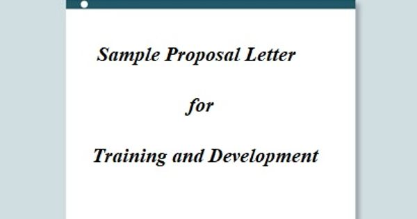 Sample Proposal Letter for Training and Development