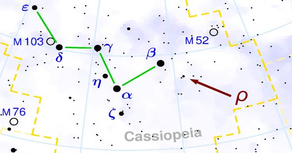 S Cassiopeiae – a Mira Variable Star in the Constellation Cassiopeia