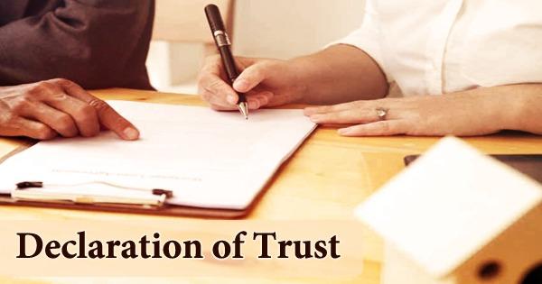 Declaration of Trust
