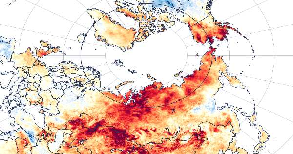 Land Temperature Soared to 48°C in the Arctic Circle this Month