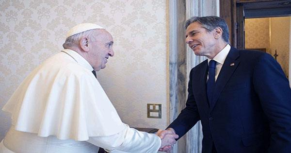 Pope Expresses 'affection' for Americans when he Meets Blinken