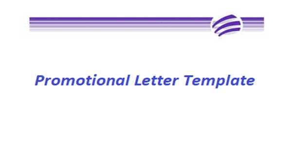 Sample Promotional Letter Template