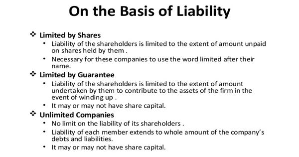 Types of Companies on the Basis of Liability