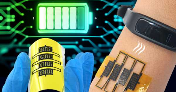 A Sweat-powered, Stretchable Battery has been designed for Wearable Technology