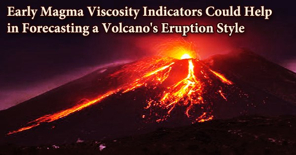 Early Magma Viscosity Indicators Could Help in Forecasting a Volcano's Eruption Style
