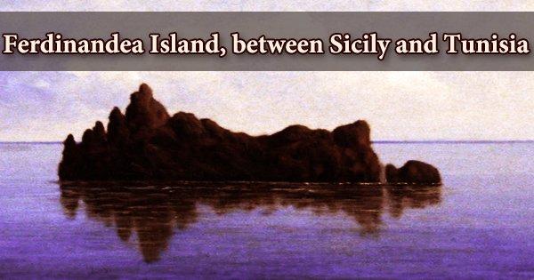 Ferdinandea Island, between Sicily and Tunisia