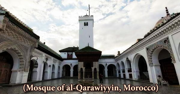 A visit to a historical place/building (Mosque of al-Qarawiyyin, Morocco)