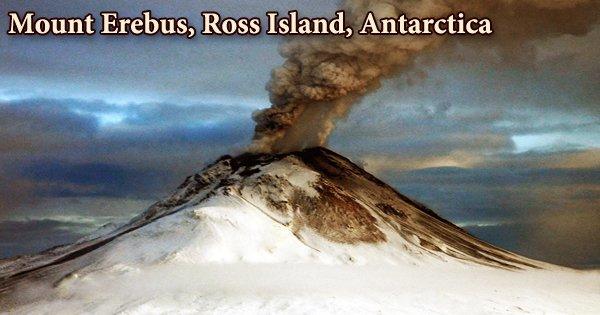 Mount Erebus, Ross Island, Antarctica