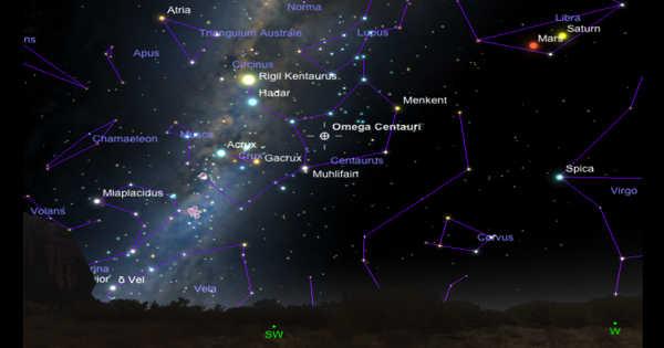 Omega Centauri – a Globular Cluster in the Constellation Centaurus