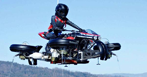 World's First Flying Jet Motorcycle Just Completed Prototype Test Flight