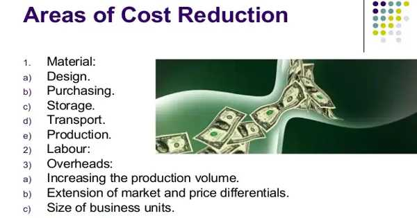 Common Areas of Cost Reduction