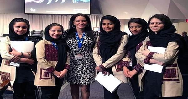 Five Members of the Afghan all-Female Robotics Team have made it to Mexico