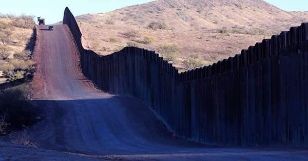 Trump's Partially Built Border Wall Damaged by Arizona's Monsoons
